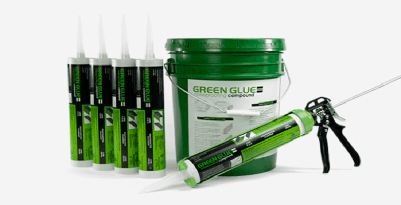 Green glue reviews. Green glue damping compound in tubes, bucket and applicator gun.