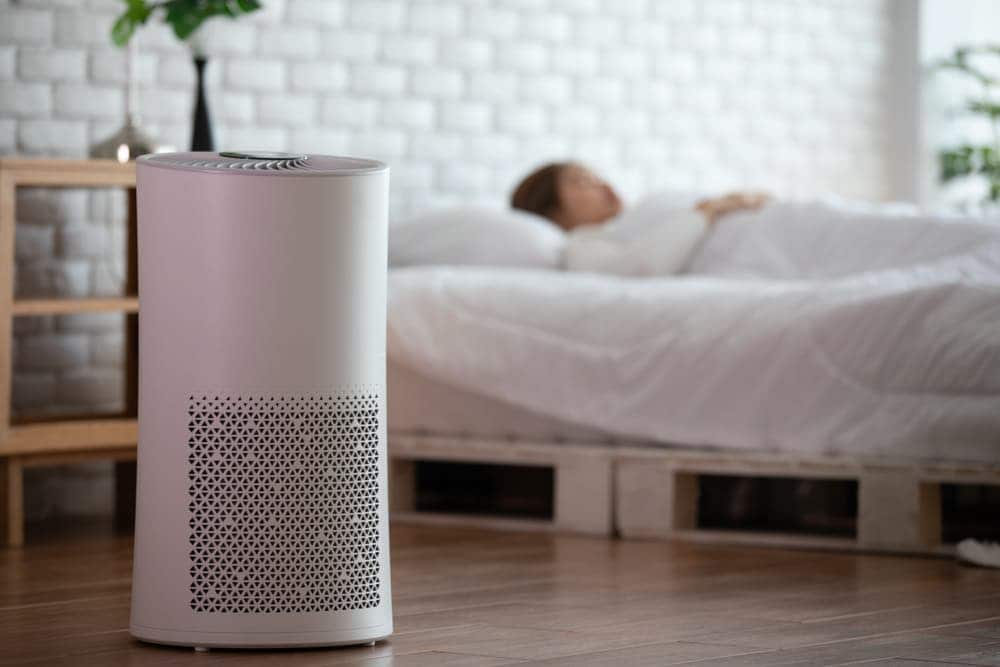 silent air purifier for sleeping in bedroom